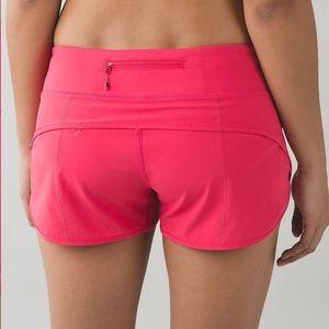 Lululemon speed short in hot pink size 8